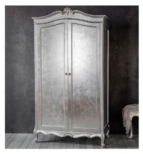 Chic Double Wardrobe in Silver